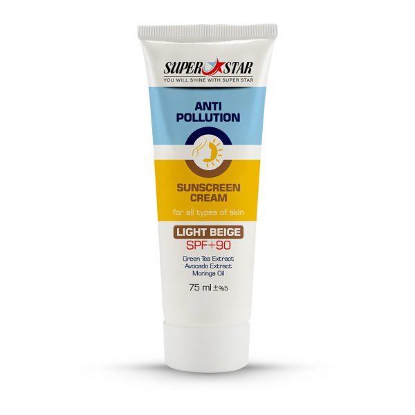ضد آفتاب کرم پودری روشن SPF90